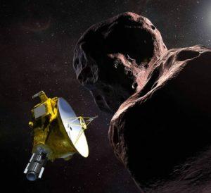 Rappresentazione grafica di New Horizons e Ultima Thule