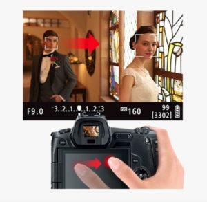 Canon EOS RP Trascinamento punto AF da touch screen