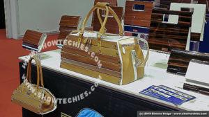 D.Madera borse in legno e pelle