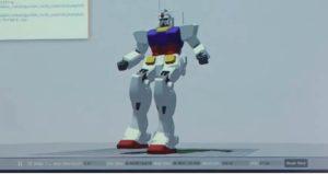 Simulazione 3D movimento Gundam Robot