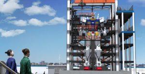 Gundam robot porto Yokohama