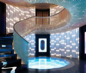 Scalone centrale Aqua Sinot Yacht Architecture & Design