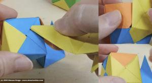 Cubo Sonobe collegamento 4 faccia