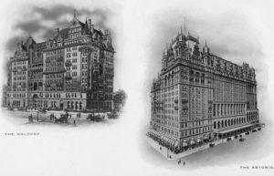 Gli originali Waldorf ed Astoria hotel