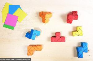 Le 7 forme irregolari del cubo SOMA