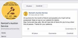 Rentzel Auction Service Post Facebook