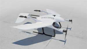 Wingcopter drone volo orizzontale