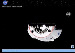 Avvicinamento visto da ISS