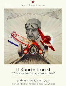 Manifesto mostra dedicata a Conte Trossi
