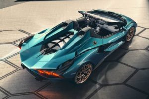 Vista open-top Lamborghini Sian