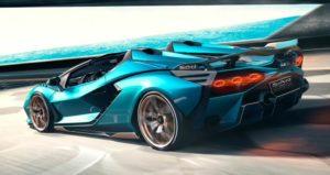 Lamborghini Sian vista posteriore