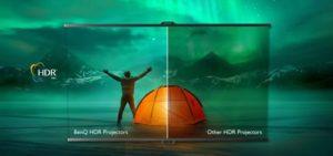 BenQ DLP V6000/V6050 colori HDR HLG