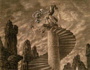 Bozzetto per Sinbad di Ray Harryhausen