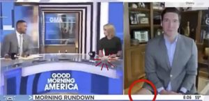 Will Reeve in boxer durante Good Morning America