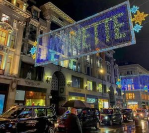 Oxford Street festone luminoso nome Lynnette