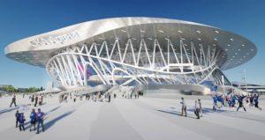 Sezioni in acciaio a sostegno tetto Ska Arena