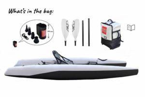 Confezione borsa, paddle, super kayak