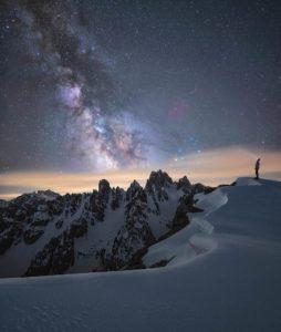 La Via Lattea da Auronzo nelle Dolomiti a maggio