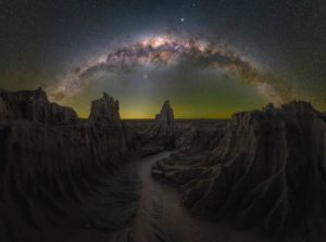 Arco Via Lattea a Mungo, nel Nuovo Galles del Sud in Australia