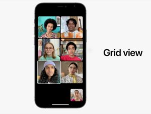 iOS15 Grid View per sei contattii