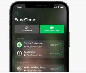 iOS15 Link su Facetime