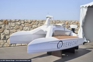 Overboat con hydrofoil stand Port Canto Cannes Yachting Festival
