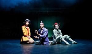 Zoé, John e Quidam sulle tavole forate del set