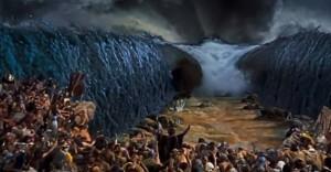 La separazione delle acque ne I dieci comandamenti