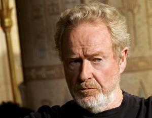 Ridley Scott sul set di Exodus