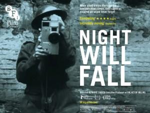 Locandina documentario Night Will Fall