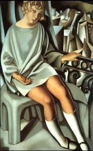 Kizette al balcone di Tamara de Lempicka