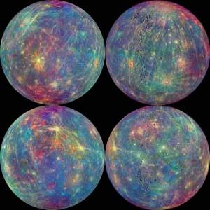 La superficie di Mercurio analizzata da spettrometri