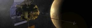 La sonda Messenger in orbita attorno a Mercurio