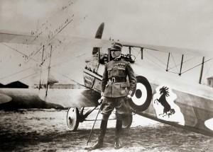 Baracca con stemma cavallino su SPAD S.XIII