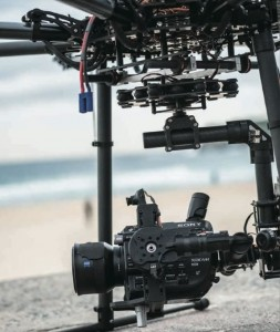 Sony PXW-FS5 su drone