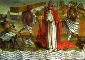 Frammento Danza macabra di Bernt Notke della Chiesa di San Nicolò a Tallinn