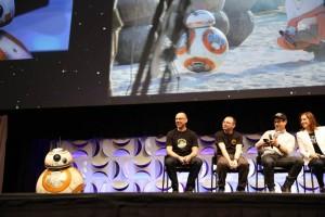 BB-8 sul palco ad Anaheim in California