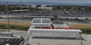 Pannelli solari passerelle stadio