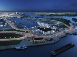 Anversa Port House Zaha Hadid vista aerea