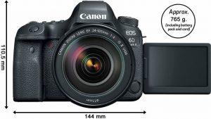 Design corpo macchina Canon 6D Mk II