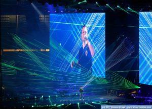 Laser verdi su palco Ferro 2017