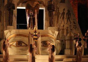 Scenografia Aida teatro Taormina