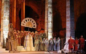 Scena coro Aida Taormina 2017