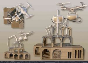 Droni e stampanti 3D per case in Iraq