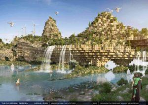 """""""I 5 ponti fattorie"""" di Vincent Callebaut"""