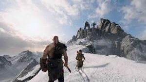 Kratos e Atreus montagne innevate