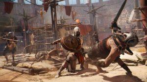 Scena di combattimento di Assassin's Creed Origins