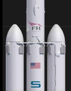 Dettaglio booster 3 Falcon 9