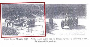 Lurani al volante dell'Astura e della Maserati