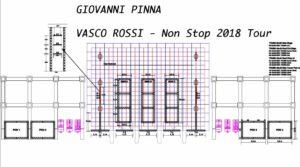 Lighting plot Giovanni Pinna per Vasco 2018